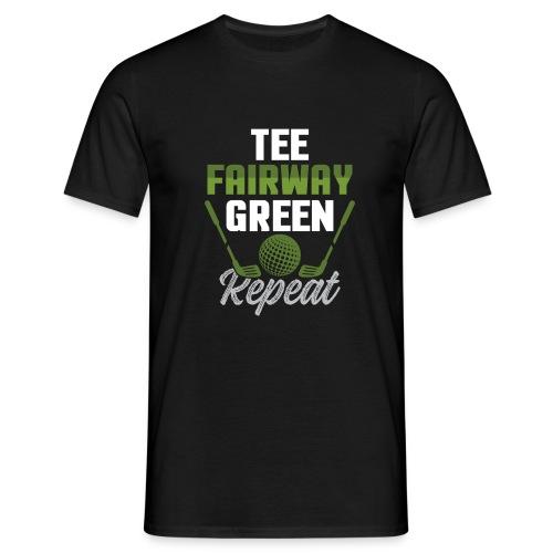 Tee Fairway Green Repeat Golf - Men's T-Shirt