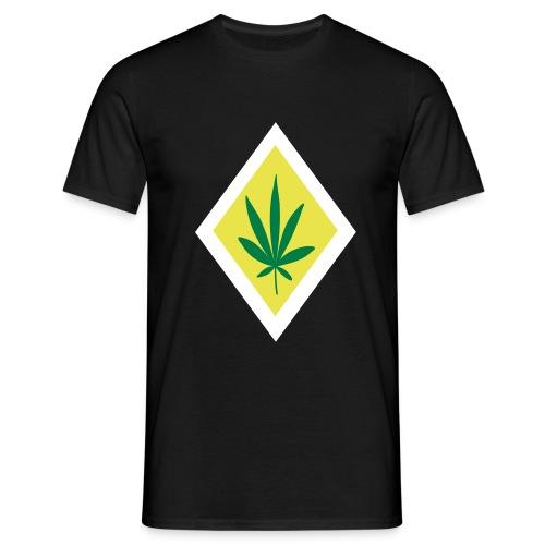 verkehrsschild vorfahrt cannabis - Männer T-Shirt