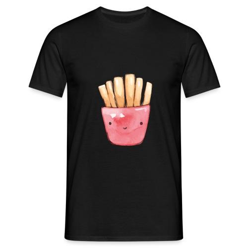 Kawaii Pommes Tüte   Aquarell - Männer T-Shirt