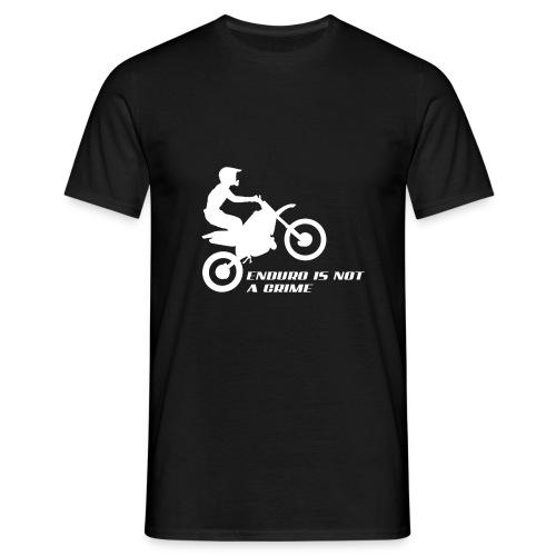 Echtes Logo Enduro is notlflkllldsalf a Crime png - Männer T-Shirt