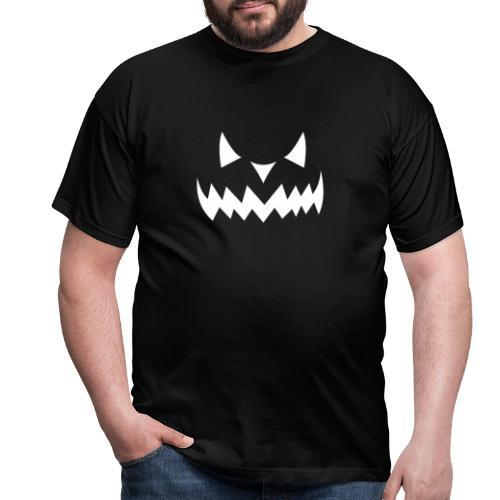 Pumpkin Face Halloween white - Männer T-Shirt