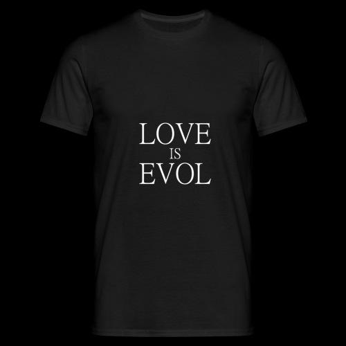 LOVE IS EVOL WHITE ON BLVCK - Maglietta da uomo