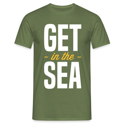 get in the sea 02 - Men's T-Shirt