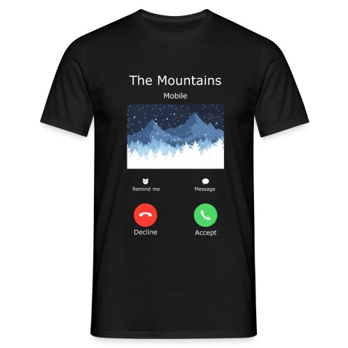 mountains gross - Männer T-Shirt