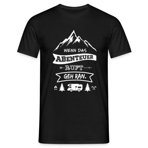 Abenteuer ruft white - Männer T-Shirt