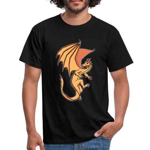 Drache, orange - Männer T-Shirt