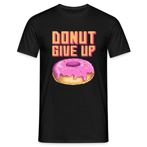 DonutGiveUp - Männer T-Shirt