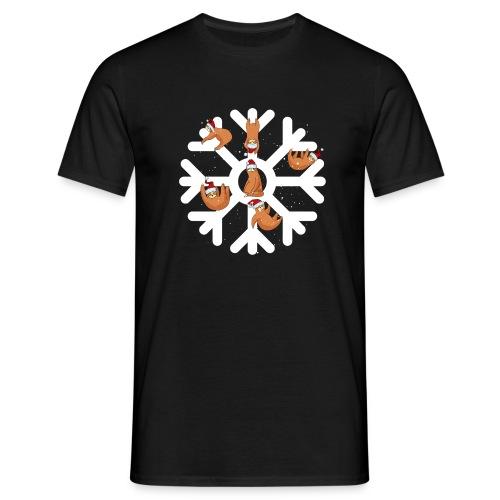 Snowflake Sloth - Men's T-Shirt