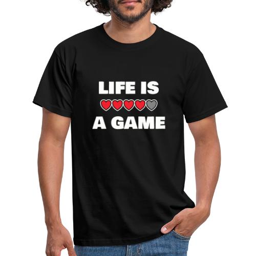 life is a game, White - T-shirt herr