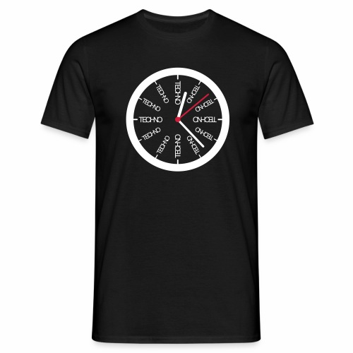 Techno Uhr Clock Rave All Day Clubbing DJ Watch - Männer T-Shirt