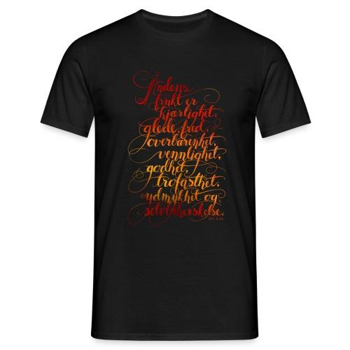 Åndens frukt - T-skjorte for menn