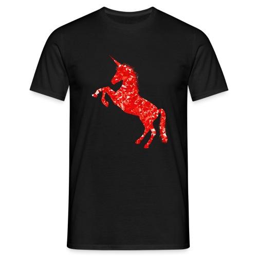 unicorn red - Koszulka męska