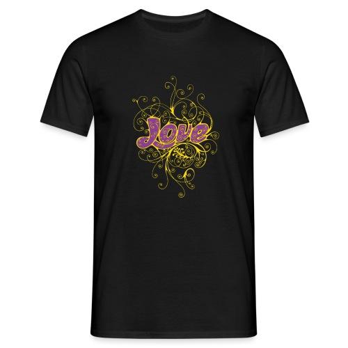LOVE VIOLA CON DECORI - Maglietta da uomo