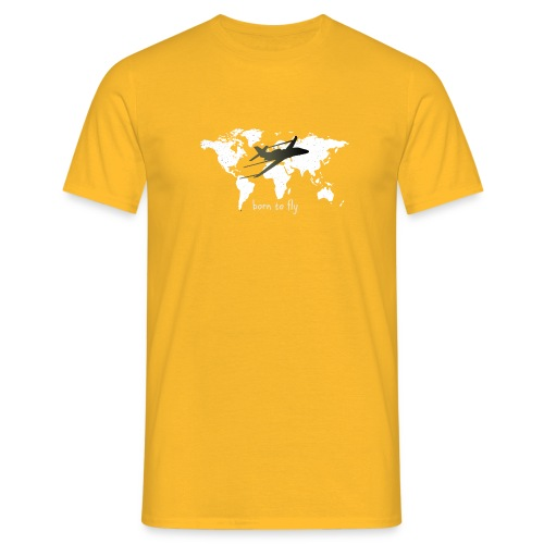 born to fly (White Galaxy) - Männer T-Shirt