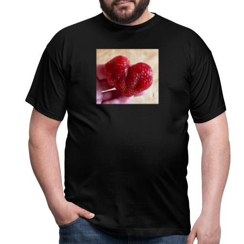 Jordgubbs hjärta - T-shirt herr