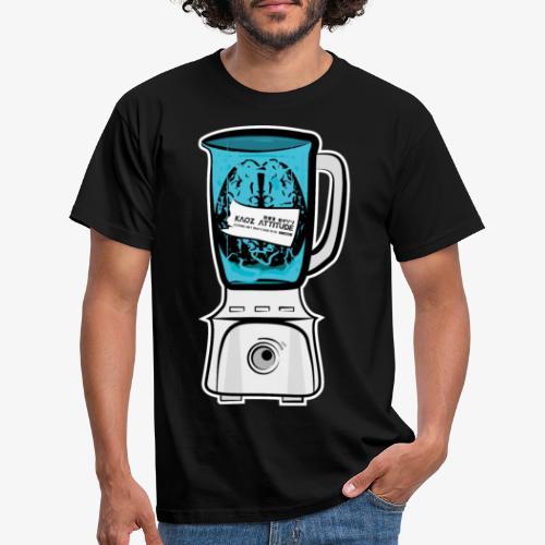 Hirn im Mixer - neon blau - Männer T-Shirt