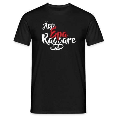 aektaeparaggareroedvit - T-shirt herr