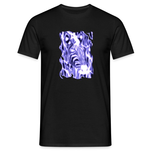 Sähköinen seepra - Miesten t-paita