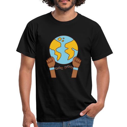 Breek je kettingen - Mannen T-shirt