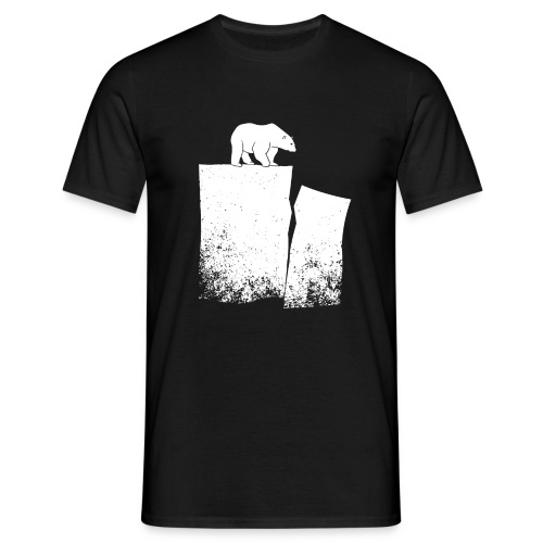 Polar Bear And Global Warming - Men's T-Shirt