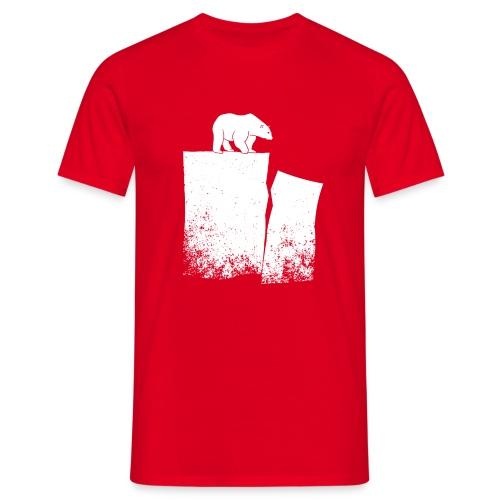Polar Bear And Global Warming - Men's T-Shirt