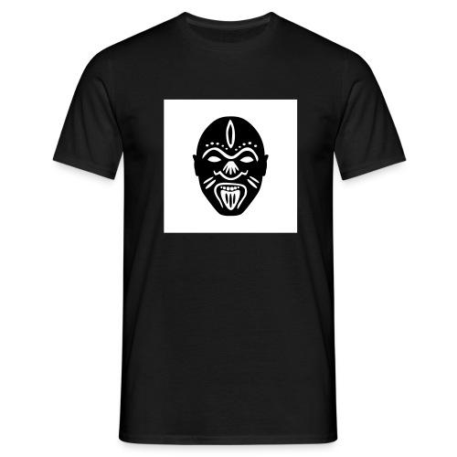 Good Voodoo Tribal Head White - Men's T-Shirt