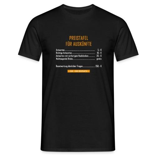 Preistafel für Auskünfte - Männer T-Shirt