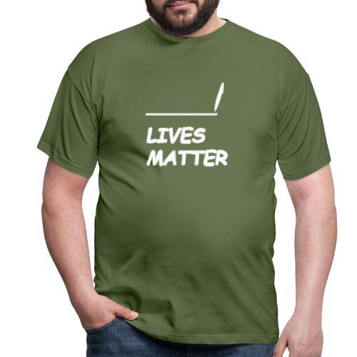VUL LEVENS IN MATERIE - Mannen T-shirt