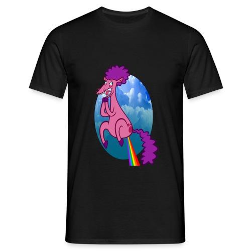 rainbow rocket farts by drewzers d46b22t png - Men's T-Shirt