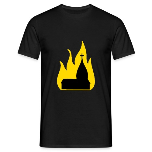 Burning church - Herre-T-shirt