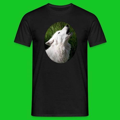 Witte wolf - Mannen T-shirt