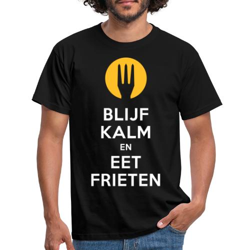 keep calm en eet frieten - T-shirt Homme