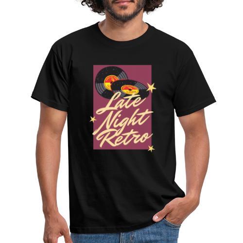 Late Night Retro, Schallplatte, Retro Look - Männer T-Shirt
