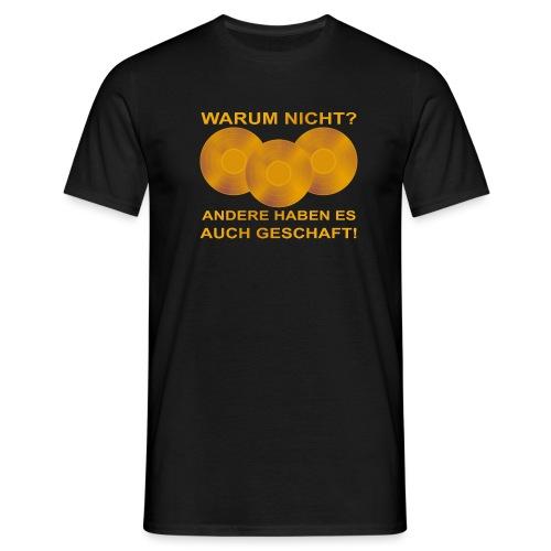 Goldene Schallplatte - Männer T-Shirt