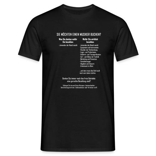 Musiker buchen - Männer T-Shirt
