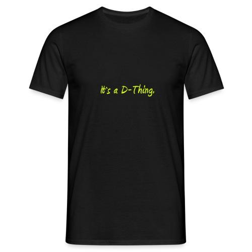 DTWear - It`s a D-Thing - Yellow / Geel - Mannen T-shirt