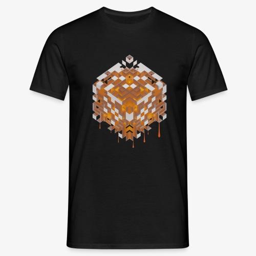 Burning Cube - Männer T-Shirt