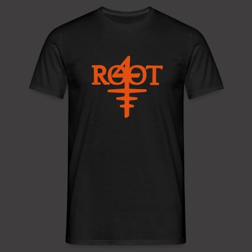 root4 logo weiss - Männer T-Shirt