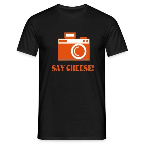 say cheese - Mannen T-shirt