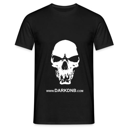 Dark DnB skull site - Men's T-Shirt
