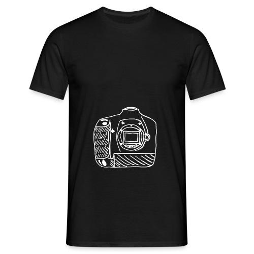 Kamera D weiß - Männer T-Shirt