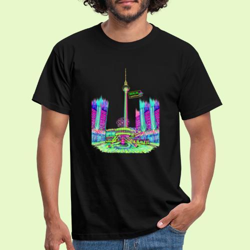 Berlin Alexanderplatz / BerlinLightShow /PopArt - Männer T-Shirt
