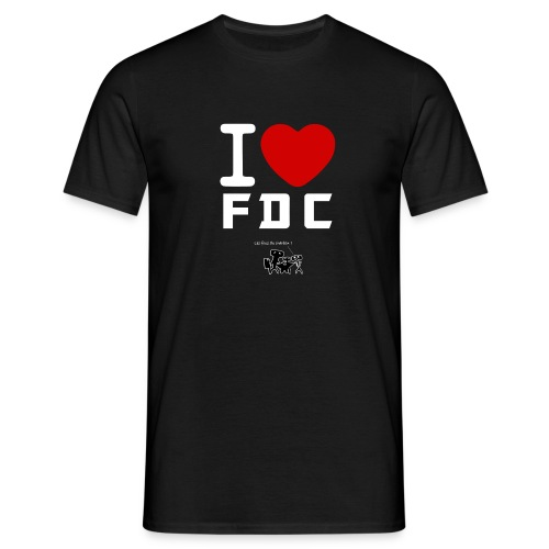 T Shirt I Love FDC Blanc Fous du charbon - T-shirt Homme