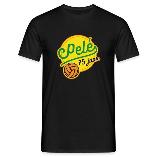 Logo 75 jaar Pelé - Mannen T-shirt