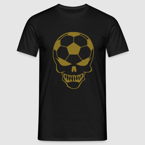 Fußball-Totenkopf - Männer T-Shirt