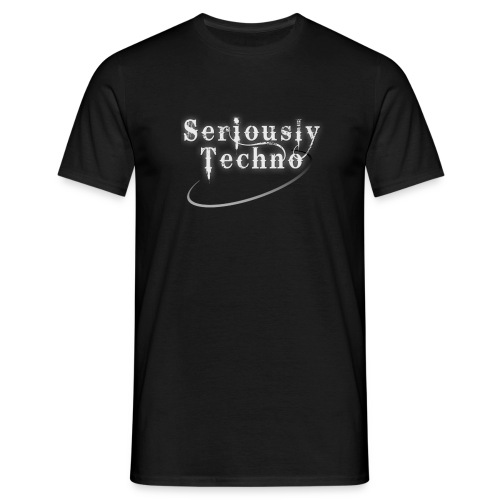 brand elektrax seriouslytechno onblack - Men's T-Shirt
