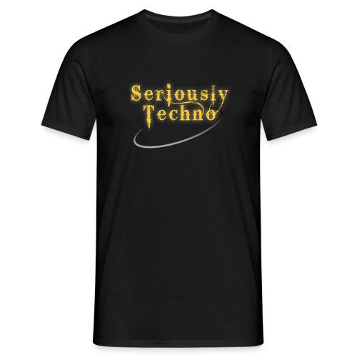 brand elektrax seriouslytechno yellowonb - Men's T-Shirt