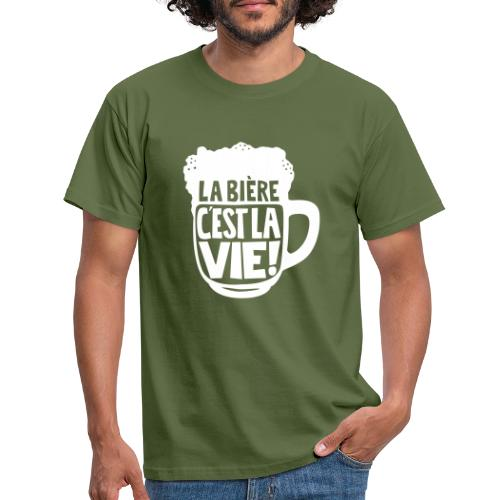 bière, la bière c'est la vie - T-shirt Homme
