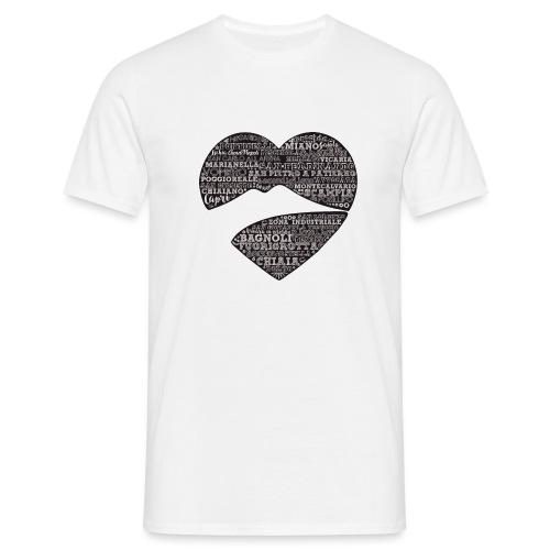 cuordinapoli black - Maglietta da uomo