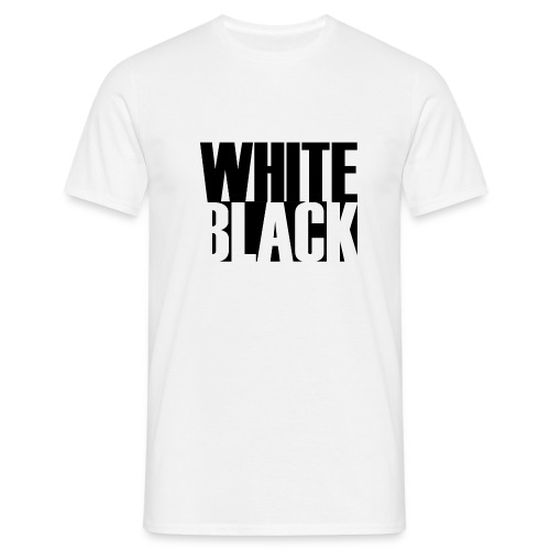 White, Black T-shirt - Mannen T-shirt